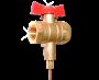 Кран шаровой для подключения импульсной трубки