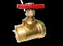 Клапан запорный, пар с внутренней-наружной резьбами
